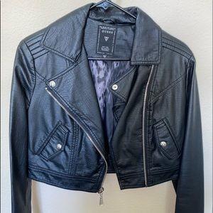 Jackets & Blazers - black cropped leather jacket